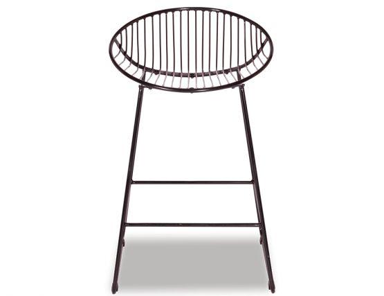 Designer Black Wire Mesh Kitchen Stool