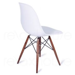 Eiffel Dining Chair With Beech Legs Teal Armless White Replica Eames Dsw
