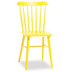 Bentwood Dining Chair Stainless Steel Ironica Spindle Back Timber In Yellow