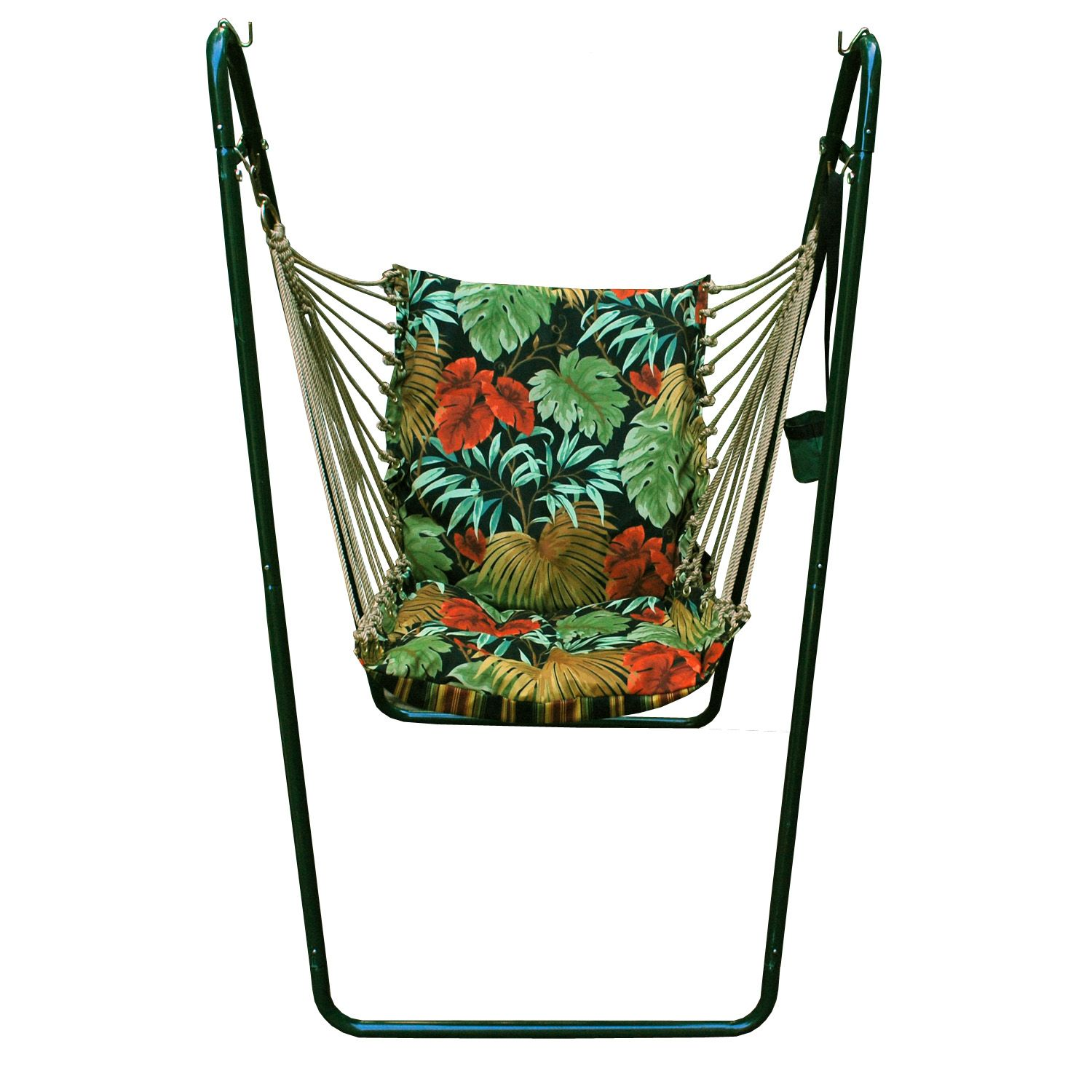 hanging chair frame stand pier one rattan navy tropical algoma swing and set