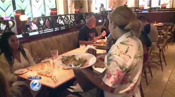 waitress and big tip