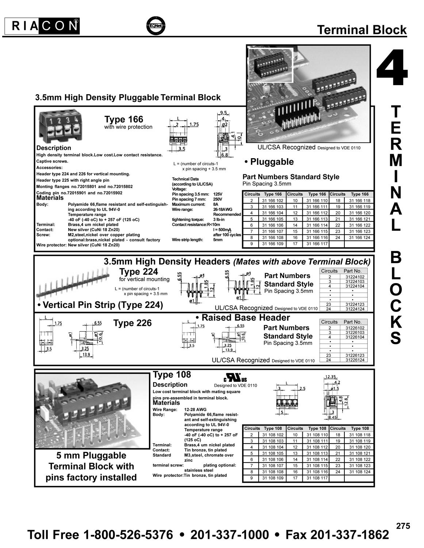 Standard Relay Terminal Numbers