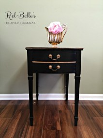 Black and gold side table