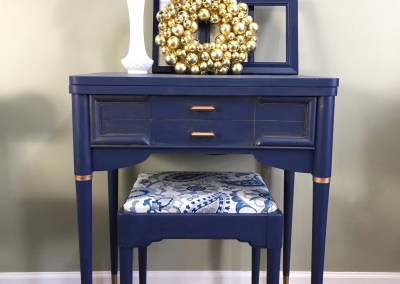 Navy blue sewing machine table