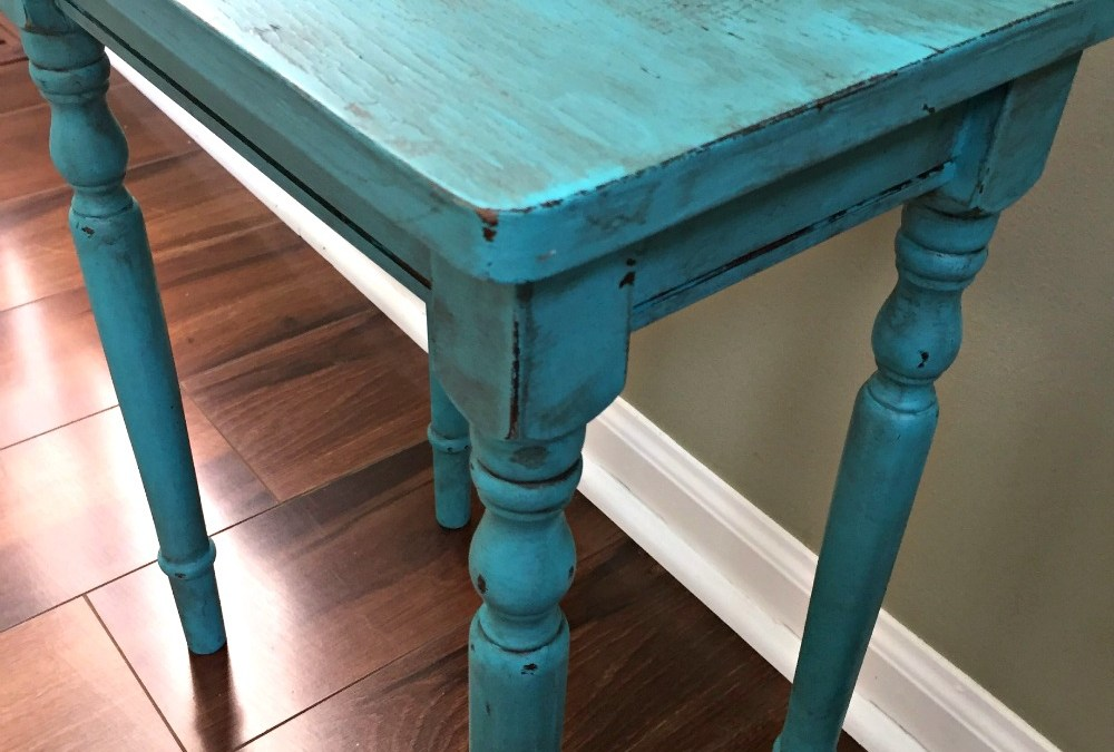 Turquoise accent table