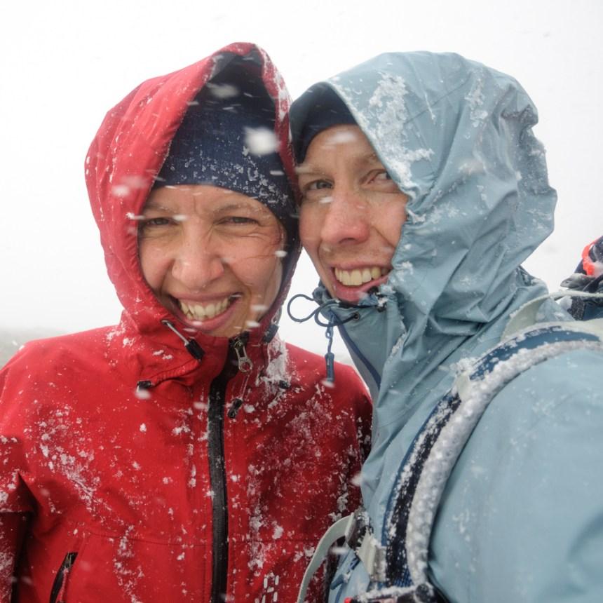 Snö på topptur på Kebnekaise
