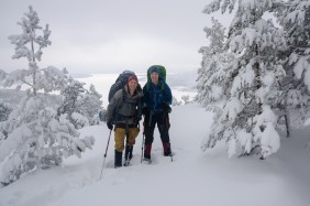 Reldin Adventures - High Coast Winter Hike - Maria och Pierre