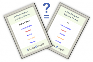 Strengths twin strengthsfinder frequency same top 5 pair search find match same theme