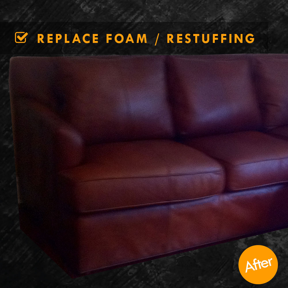 foam cushion replacements for sofas fabric protectors restuffing leather couch cushions and replacement replace seat after
