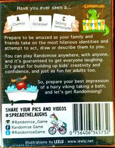 Back of Randomise Box