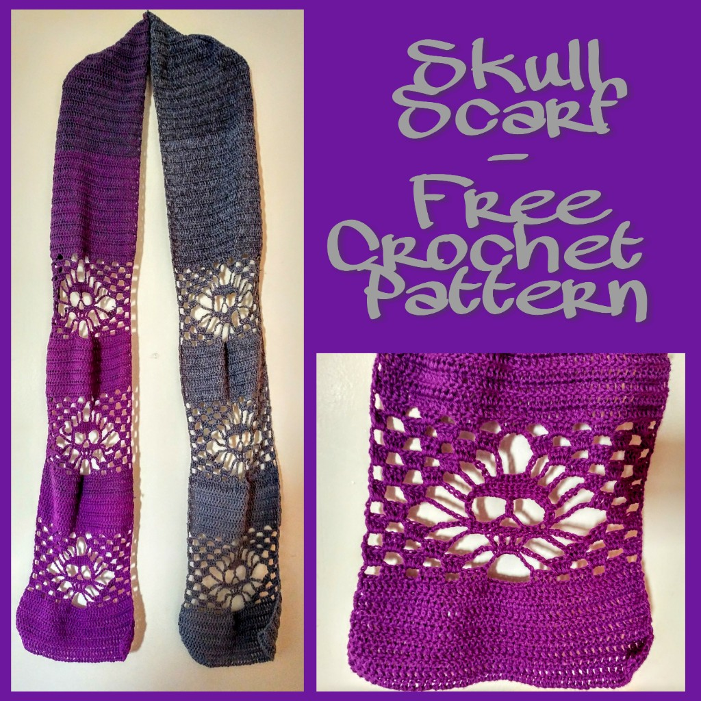 Skull Scarf – Free Crochet Pattern