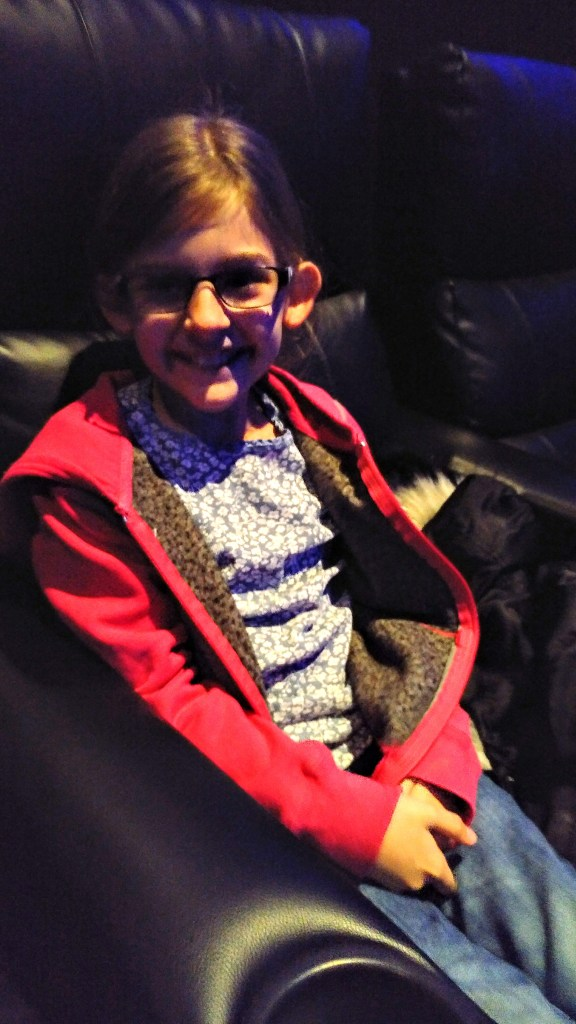Eva smiling at Showcase Cinema De Lux Bluewater