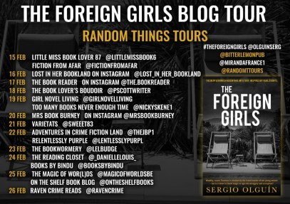 The foreign girls blog tour poster