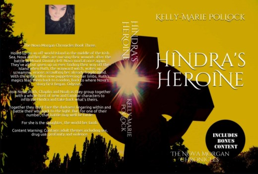Book cover - Hindra's Heroine by Kelly-Marie Pollock