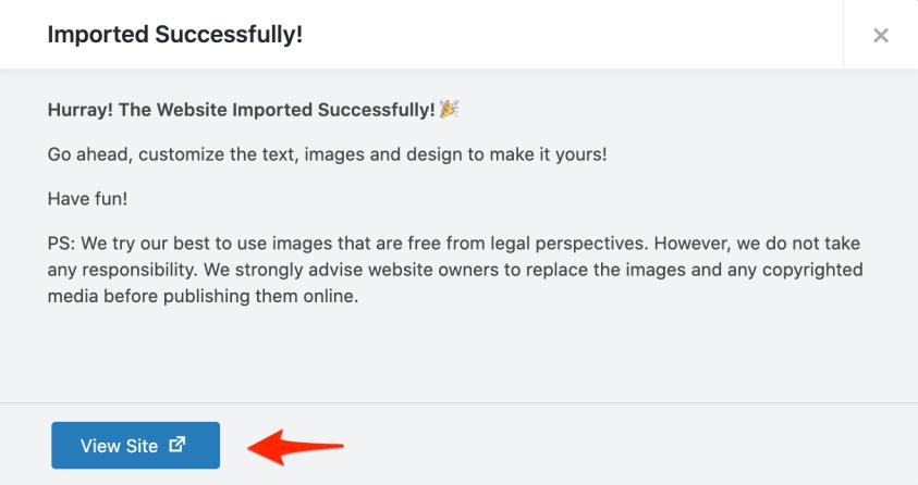 import website contents success