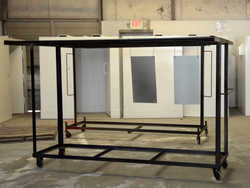 small resolution of custom parts racks for powder coating