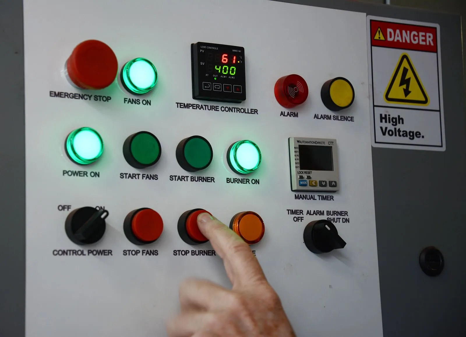 hight resolution of whether yo batch powder curing oven control panel