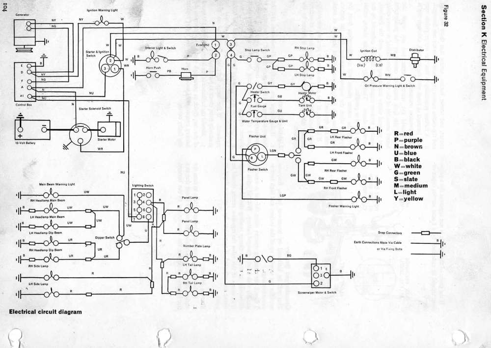 medium resolution of reliant regal 3 25 car and van 600cc wiring diagram please note the 700cc colour code is the same as 600cc