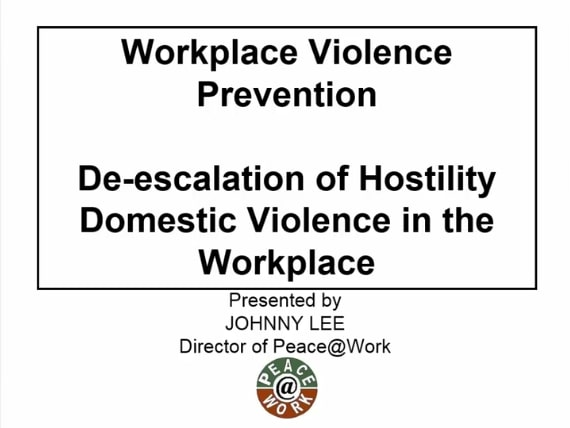 The Two Most Common Forms of Workplace Violence
