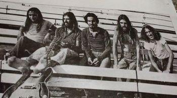 Banda Liverpool no auditório Araújo Vianna, em Porto Alegre - RS, anos 70.