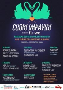 CUORI IMPAVIDI: Rassegna estiva di concerti acquatici alle tribune dell'Idroscalo di Milano.