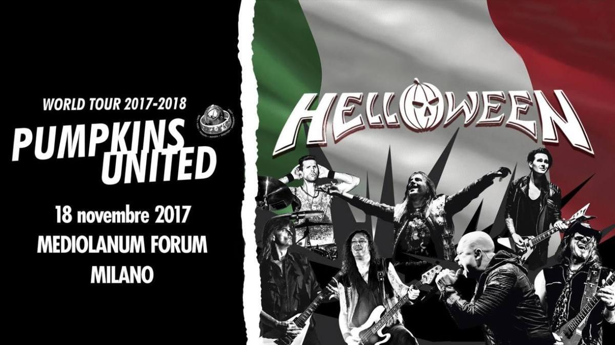 """Helloween """"Pumpkins United World Tour 2017/18"""": 18 novembre Mediolanum Forum di Milano"""