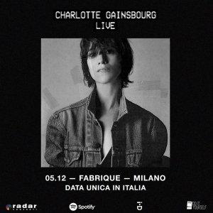 CHARLOTTE GAINSBOURG: un'unica data italiana il 5 dicembre al Fabrique
