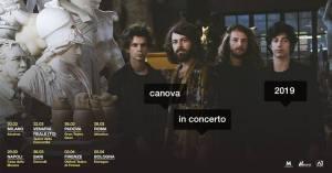 Canova in concerto a Roma il 28 marzo all'Atlantico live