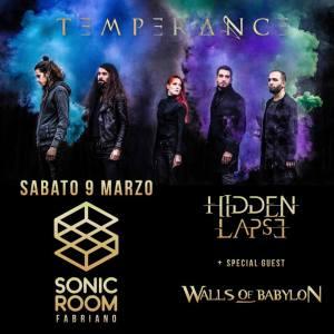 Temperance, Hidden Lapse e Walls of Babylon in arrivo al Sonic Room di Fabriano