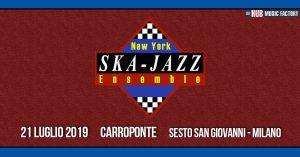 New York Ska Jazz Ensemble live Carroponte di Milano il 21 luglio
