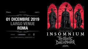 Insomnium + The Black Dahlia Murder a Largo Venue 1 dicembre 2019