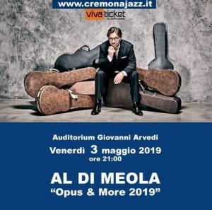 Al Di Meola live a Cremona il 3 maggio