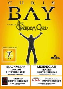 Chris Bay (Freedom Call): quattro date in Italia ad ottobre
