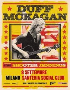 DUFF MCKAGAN: il bassista dei Guns 'N' Roses live alla Santeria Social Club di Milano l'8 settembre