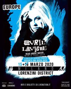 Avril Lavigne: vista l'incredibile richiesta, si aggiunge un secondo show a Milano!