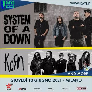 System Of A Down e Korn riconfermati all'edizione 2021 di I-Days