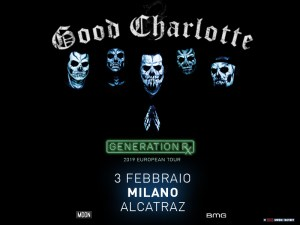 GOOD CHARLOTTE: le leggende del pop punk tornano in Italia per un'unica e attesissima data