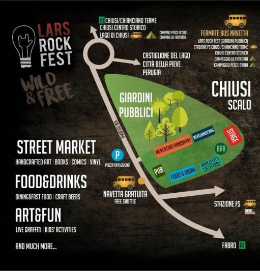 Lars Rock Fest mappa