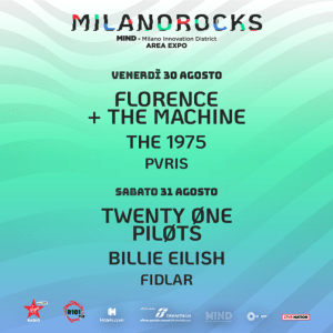 Milano Rocks festival 2019: la linea up completa!