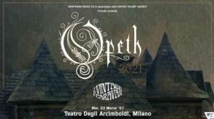 Opeth: nuova data in Italia a Marzo 2021