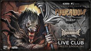 Powerwolf Amaranthe Kissin' Dynamite - Live Club 7/11