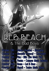 Reb Beach & The Bad Boys in Italia per quattro date ad Ottobre!