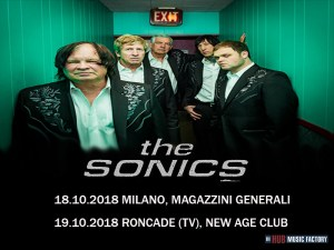 THE SONICS: due date in Italia a ottobre per la storica band garage rock americana