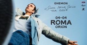 Ghemon live all'Orion di Ciampino il 4 Aprile