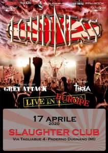 Loudness + Guest / Slaughter Club (Milan)Venerdì 17 aprile 2020