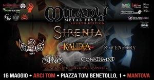 Milady Metal Fest Fourth Edition Sabato 16 maggio @Arci Tom Mantova