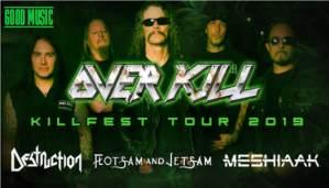 KILLFEST TOUR 2019 - Overkill + Destruction + Flotsam & Jetsam + Chronosphere in Italia per due date
