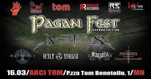 Pagan Fest 2° Ed. Ancient Bards MaterDea HolyShire Kanseil HoFK Sabato 16 marzo 2019 Arci Tom Mantova