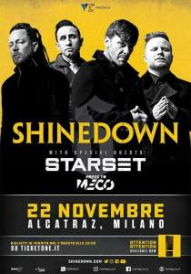 SHINEDOWN: una data a novembre in Italia!