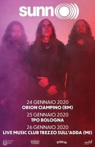 Sunn O))): tre date italiane a gennaio
